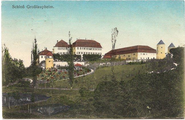 Blick auf den Schlossberg (Vorderseite der Ansichtskarte)