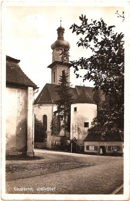 Schloßhof (Vorderseite der Ansichtskarte)