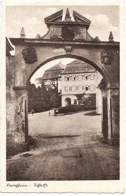 Laupheim Schloß (Vorderseite der Ansichtskarte)