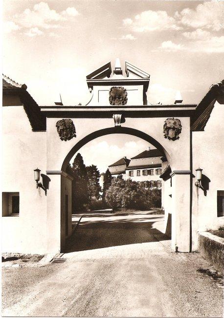 Schlosstor (Vorderseite der Ansichtskarte)