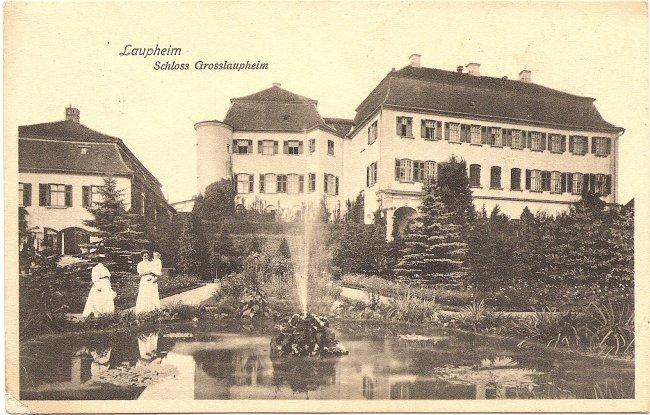 Laupheim Schloss Grosslaupheim (Vorderseite der Ansichtskarte)