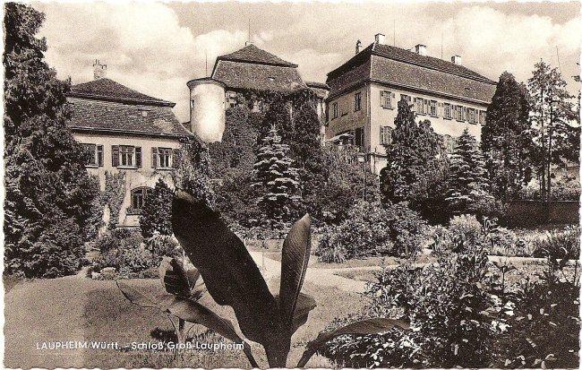 Laupheim/Württ. - Schloß Groß-Laupheim (Vorderseite der Ansichtskarte)