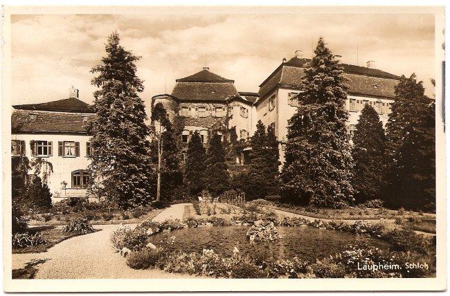 Laupheim, Schloß (Vorderseite der Ansichtskarte)