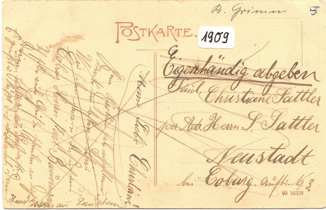 Laupheim Partie im Schlossgarten (Rückseite der Ansichtskarte)