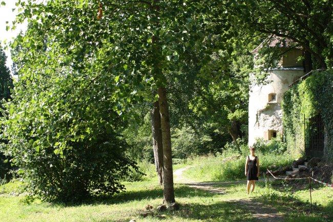 Laupheim Partie aus dem Schlosspark (heutige Ansicht)