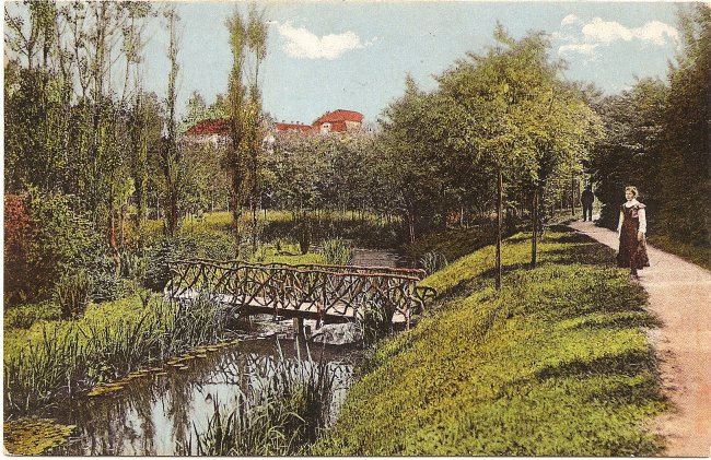 Schlosspark (Vorderseite der Ansichtskarte)