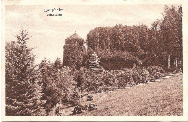 Laupheim Parkturm (Vorderseite der Ansichtskarte)