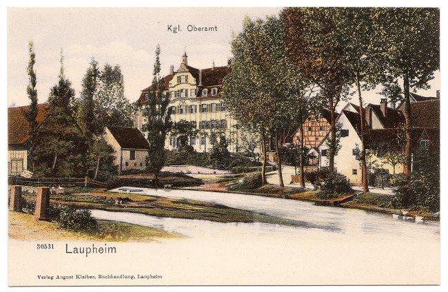Laupheim Kgl. Oberamt (Vorderseite der Ansichtskarte)