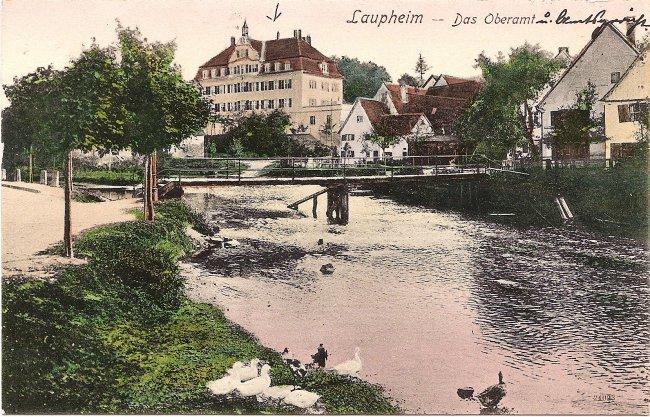 Laupheim - Das Oberamt (Vorderseite der Ansichtskarte)