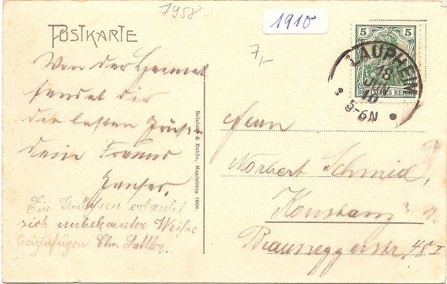 Laupheim - Das Oberamt (Rückseite der Ansichtskarte)