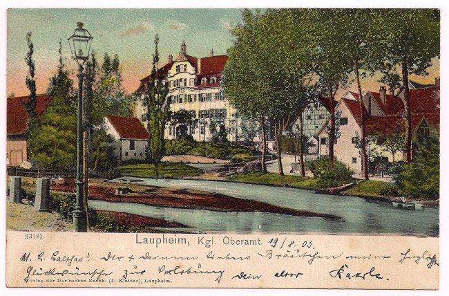 Laupheim, Kgl. Oberamt (Vorderseite der Ansichtskarte)