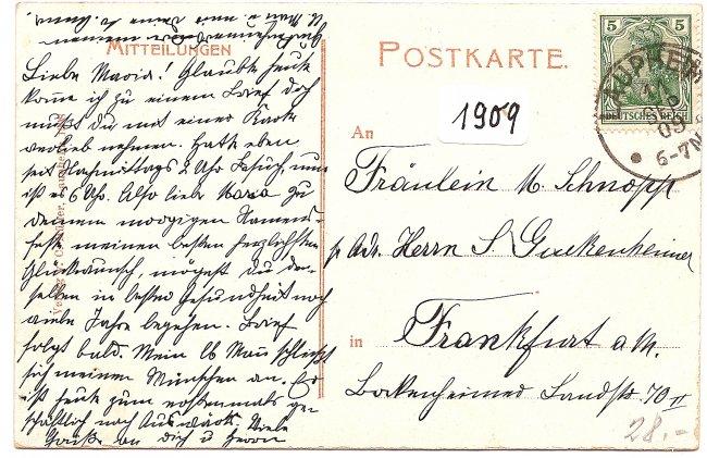 Laupheim Kgl. Oberamt u. Oberamtsgericht (Rückseite der Ansichtskarte)