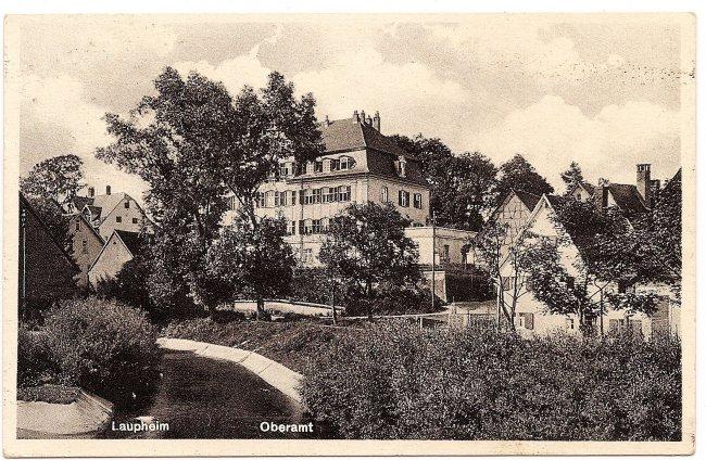 Laupheim Oberamt (Vorderseite der Ansichtskarte)