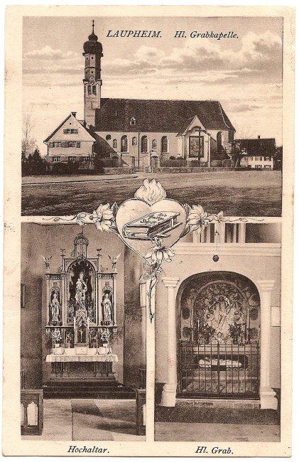 Laupheim. Hl. Grabkapelle (Vorderseite der Ansichtskarte)