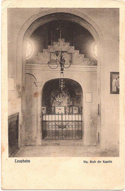Laupheim Hlg. Grab der Kapelle (Vorderseite der Ansichtskarte)