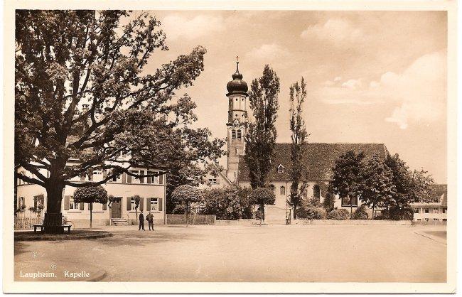 Laupheim, Kapelle (Vorderseite der Ansichtskarte)