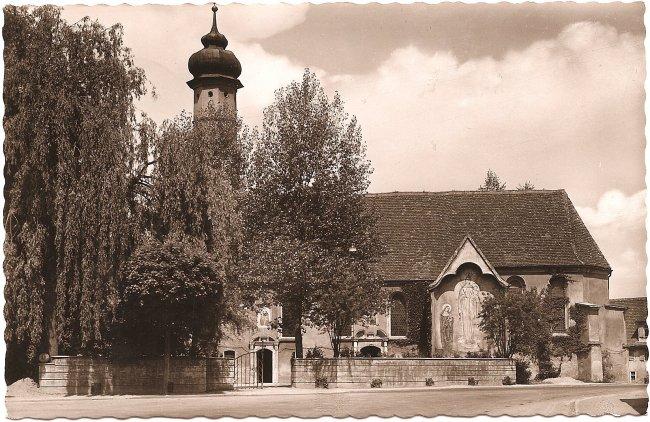 Friedhofskapelle (Vorderseite der Ansichtskarte)