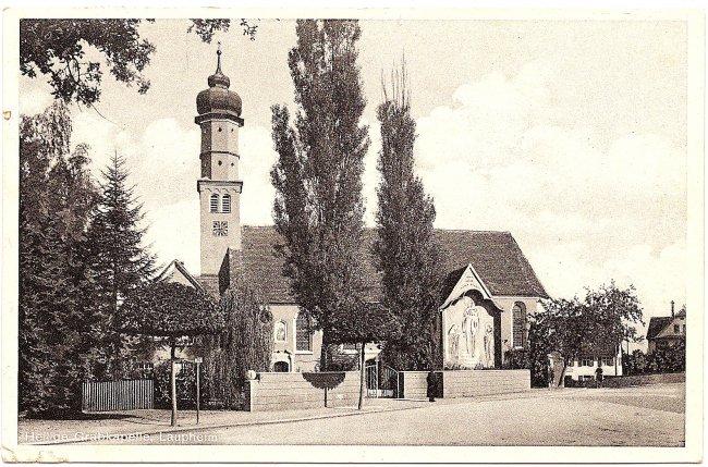 Heilige Grabkapelle, Laupheim (Vorderseite der Ansichtskarte)