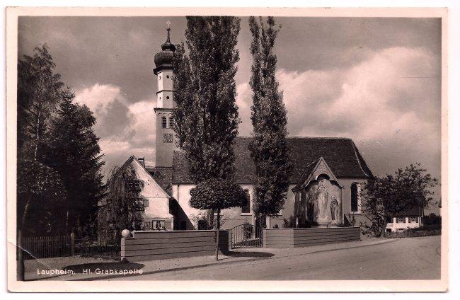 Laupheim, Hl. Grabkapelle (Vorderseite der Ansichtskarte)