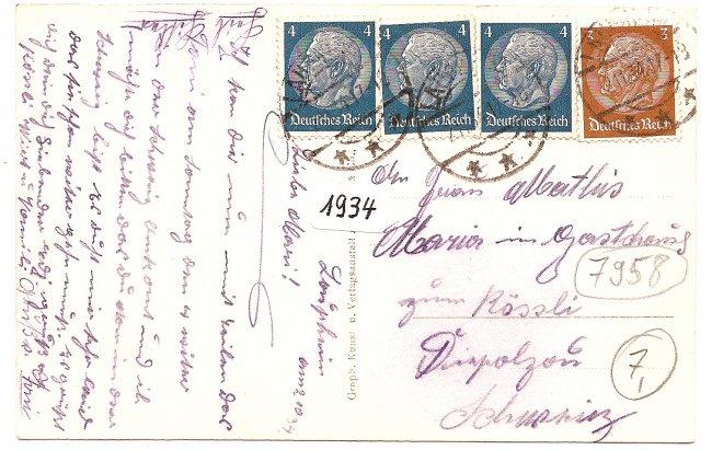 Laupheim, Hl. Grabkapelle (Rückseite der Ansichtskarte)