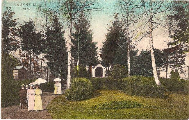 Laupheim, Ölberg (Vorderseite der Ansichtskarte)
