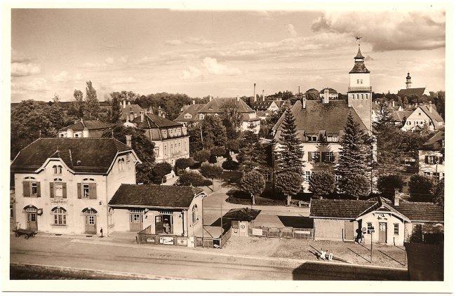 Stadtbahnhof (Vorderseite der Ansichtskarte)