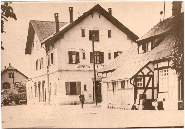 Bahnhof Laupheim-West (Vorderseite der Ansichtskarte)