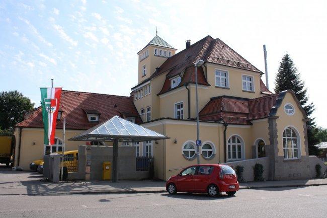 Laupheim, Neues Kgl.  Postamt Nord-Ostseite (heutige Ansicht)