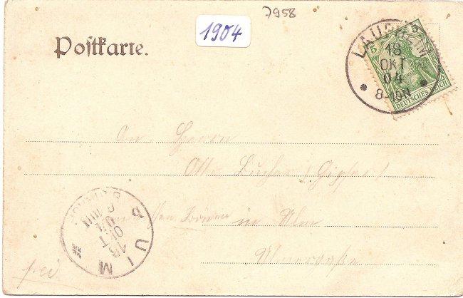 Ein Ausflug nach Laupheim (Rückseite der Ansichtskarte)