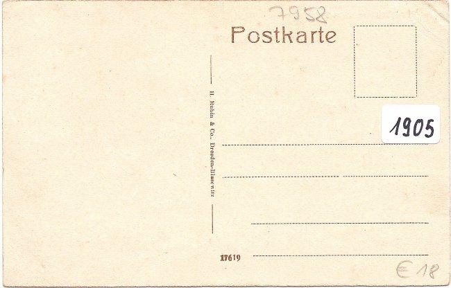 Laupheim - Mittel-Straße (Rückseite der Ansichtskarte)