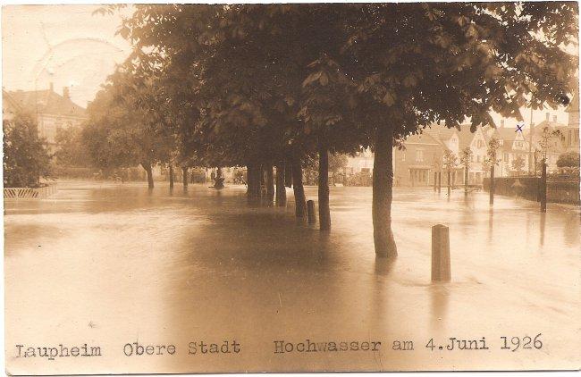 Laupheim,Obere Stadt (Vorderseite der Ansichtskarte)