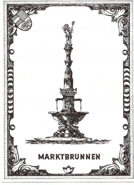 Marktbrunnen (Vorderseite der Ansichtskarte)