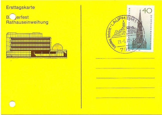 Bürgerfest Rathauseinweihung (Vorderseite der Ansichtskarte)