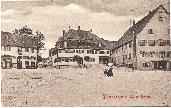 Marktplatz, Laupheim (Vorderseite der Ansichtskarte)