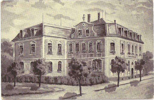 Bahnhofhotel (Vorderseite der Ansichtskarte)