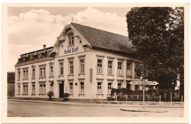 Hotel Post (Vorderseite der Ansichtskarte)