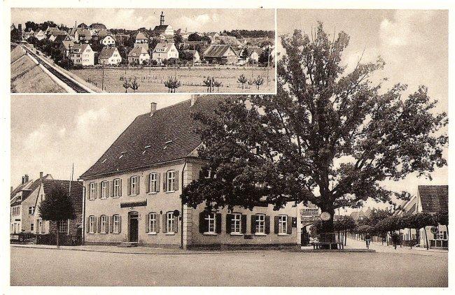 Gasthof zum Kreuz (Vorderseite der Ansichtskarte)
