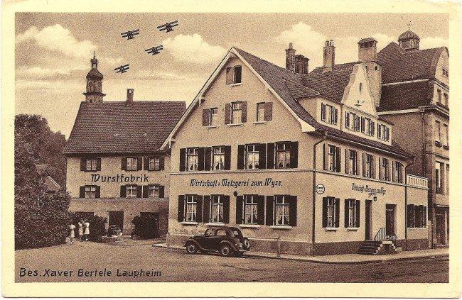 Gasthof und Metzgerei zum Wyse (Vorderseite der Ansichtskarte)
