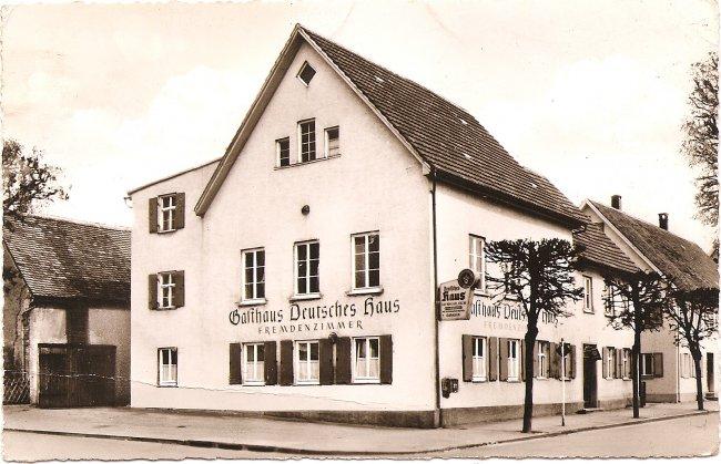 Gasthaus Deutsches Haus (Vorderseite der Ansichtskarte)