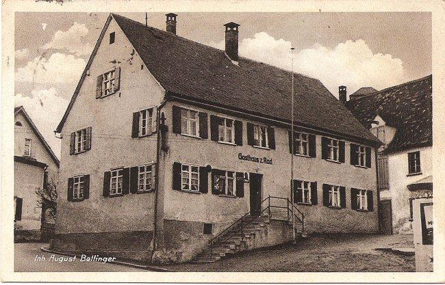 Gasthaus zum Rad (Vorderseite der Ansichtskarte)