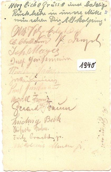 Laupheim, Gasthof zur Traube (Rückseite der Ansichtskarte)