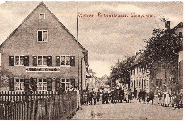 Untere Rabenstraße, Laupheim (Vorderseite der Ansichtskarte)