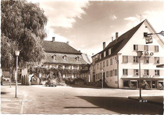 Gasthaus Mohren (Vorderseite der Ansichtskarte)