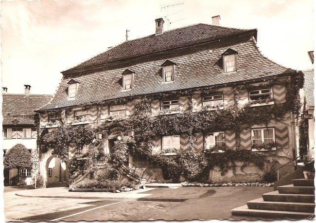 Gasthof Mohren (Vorderseite der Ansichtskarte)