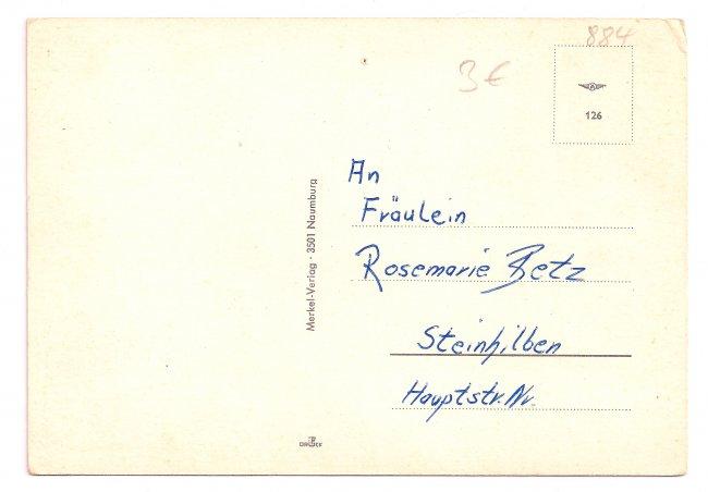 Gruß aus Laupheim (Rückseite der Ansichtskarte)