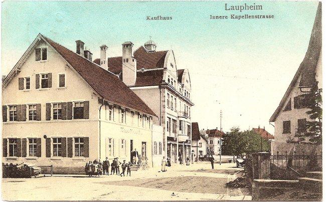 Laupheim, Innere Kapellenstraße (Vorderseite der Ansichtskarte)