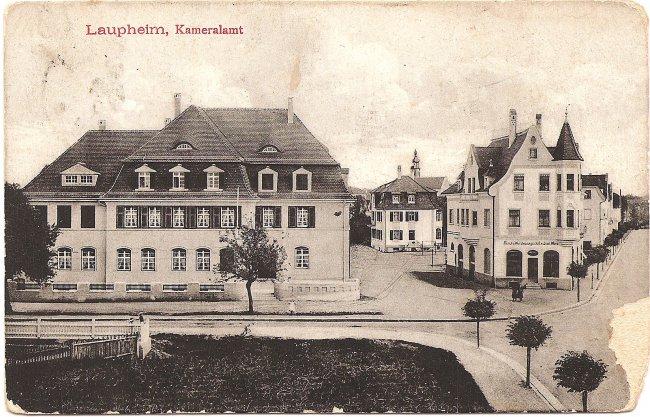 Laupheim, Kameralamt (Vorderseite der Ansichtskarte)