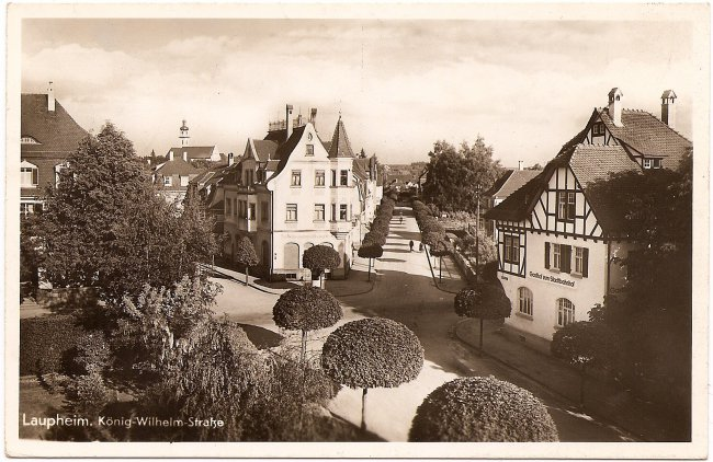 Laupheim, König-Wilhelm-Straße (Vorderseite der Ansichtskarte)
