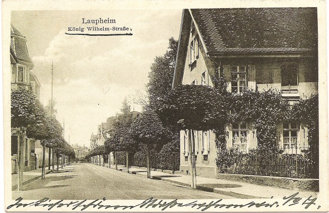 Laupheim, König Wilhelm-Straße (Vorderseite der Ansichtskarte)