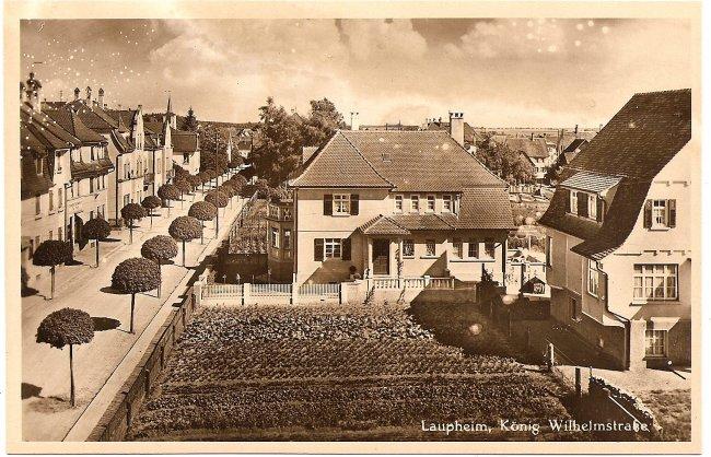 Laupheim, König-Wihelmstraße (Vorderseite der Ansichtskarte)